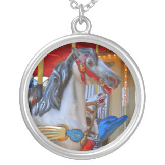 Carousel Horse and Dolphin Necklace