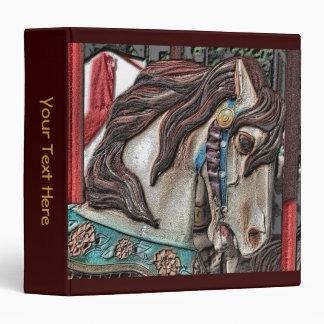 Carousel Horse Art 3 Ring Binder