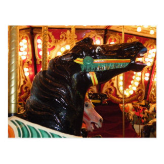 Carousel Horse at night Postcard