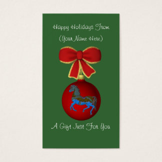 Carousel Horse Christmas Holiday Gift Card Tag