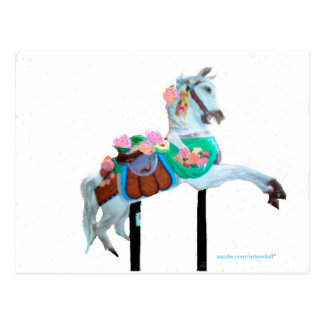 """CAROUSEL HORSE CUSTOMIZED POSTCARD"" POSTCARD"