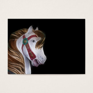 Carousel horse head business card