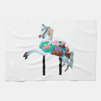 """CAROUSEL HORSE KITCHEN TOWEL"" KITCHEN TOWEL"