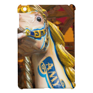 Carousel horse on merry goround cover for the iPad mini