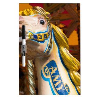 Carousel horse on merry goround dry erase boards