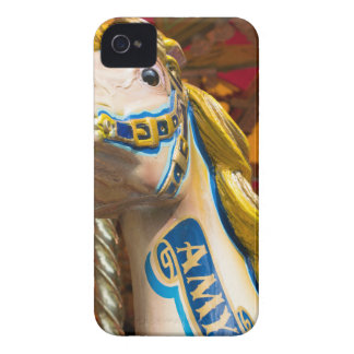 Carousel horse on merry goround iPhone 4 Case-Mate case