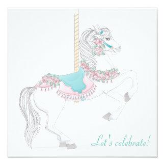 Carousel Horse Party Invitation