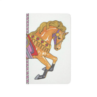 Carousel Horse pocket notebook Journal
