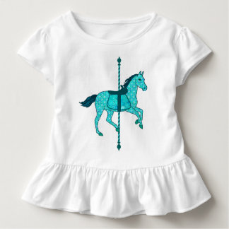 Carousel Horse - Turquoise and Aqua Toddler T-shirt