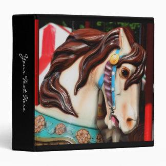 Carousel Horse Up Close Vinyl Binder