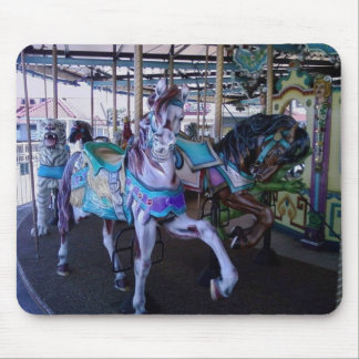 CAROUSEL HORSES MOUSE PAD