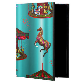Carousel Horses on Blue Cover For iPad Air