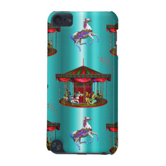 Carousel Horses on Blue iPod Touch (5th Generation) Case