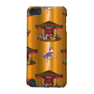 Carousel Horses on Gold iPod Touch (5th Generation) Case