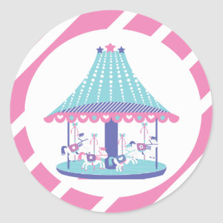 Carousel Horses Sweet Fair Birthday Stickers