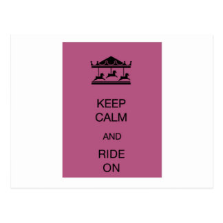 Carousel Keep Calm Postcard