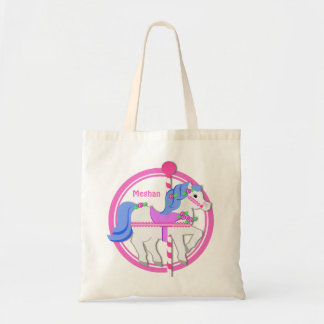 Carousel Pony Pink and Blue