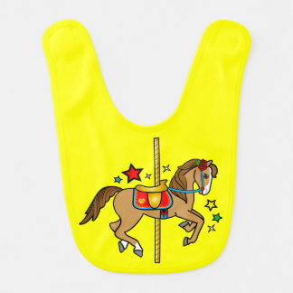 Carousel Pony with Stars Bib