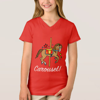 Carousel Pony with Stars T-Shirt