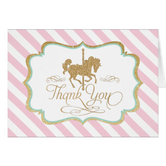 Carousel Thank You Card