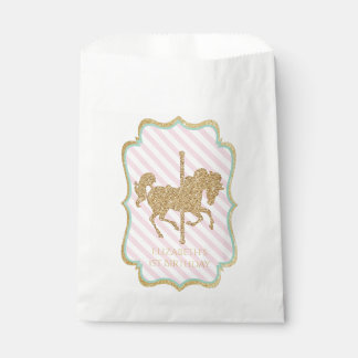 Carousel Themed Favor Bags