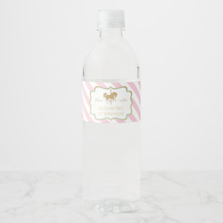 Carousel Themed Water Bottle Labels