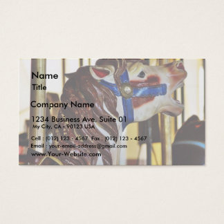 Carousels Horses Rides Amusement Parks Business Card