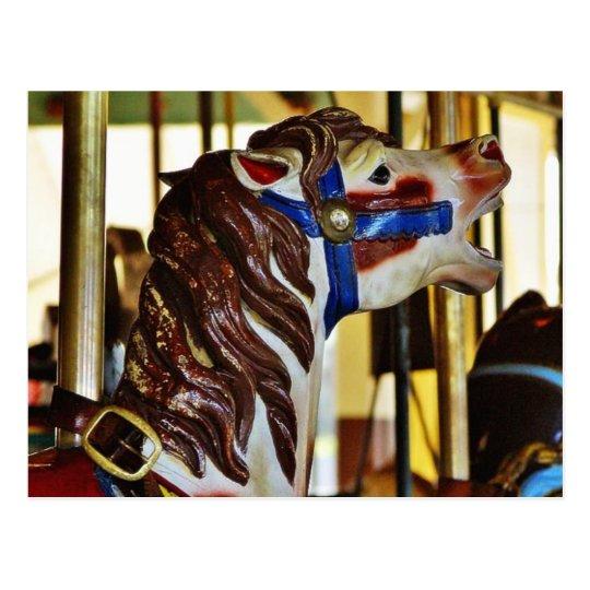 Carousels Horses Rides Amusement Parks Postcard