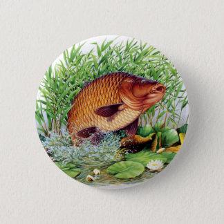 Carp Fishing 2 Inch Round Button