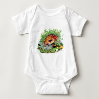 Carp Fishing Baby Bodysuit