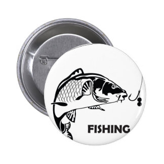 Carp fishing badge 2 inch round button