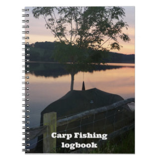 Carp fishing Catch and Conditions logbook Spiral Note Books