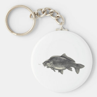 Carp Fishing Keychain