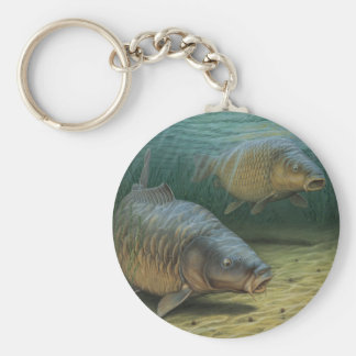 Carp Fishing Two Carp Keychain