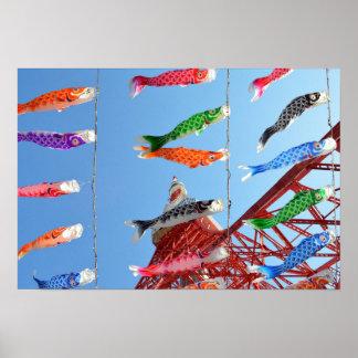 Carp Streamers (Koinobori): Tokyo, Japan Poster