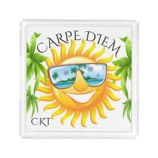 Carpe Diem Fun Sun #holidayZ Acrylic Tray