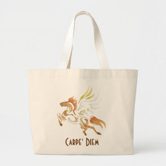 Carpe' Diem Horse Tote Bag