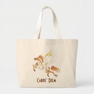 Carpe' Diem Horse Tote Bag