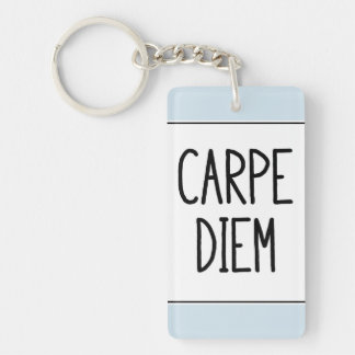 carpe diem keychain - inspirational motivational