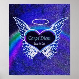 Carpe Diem Latin Quote Poster