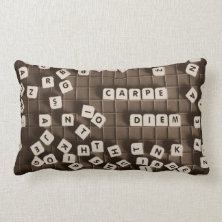 Carpe diem lumbar pillow