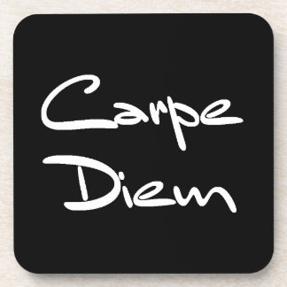 CARPE DIEM Modern Cool Text Coaster