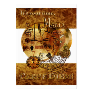 Carpe Diem Mother's Day Gift Tag Large Business Card