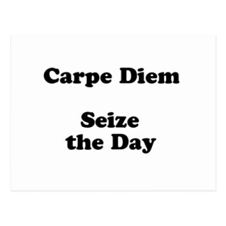 carpe diem postcard