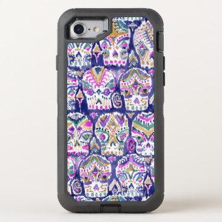 Carpe Diem Purple Boho Sugar Skulls OtterBox Defender iPhone 7 Case