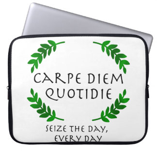 Carpe Diem Quotidie - Seize the day, every day Laptop Sleeve