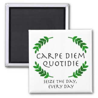 Carpe Diem Quotidie - Seize the day, every day Magnet