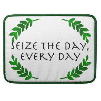 Carpe Diem Quotidie - Seize the day, every day Sleeves For MacBooks