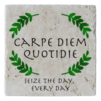 Carpe Diem Quotidie - Seize the day, every day Trivet