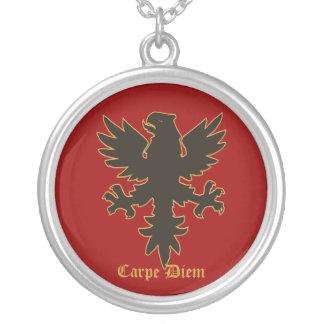 Carpe Diem, Seize the day Eagle necklace